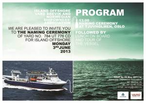 Naming Ceremony_Island Offshore and VARD
