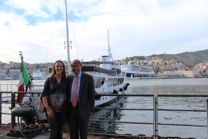 With Roberto Giorgi of V.Ships before the YoungShip launch